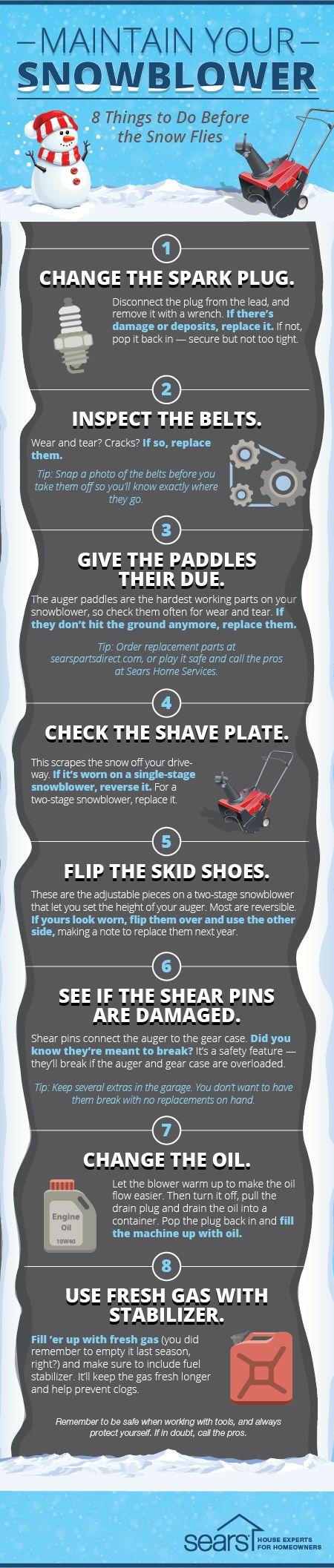 snowblower maintenance tips