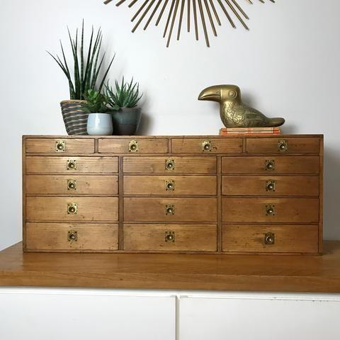 Vintage Pine Apothecary Handmade Drawers