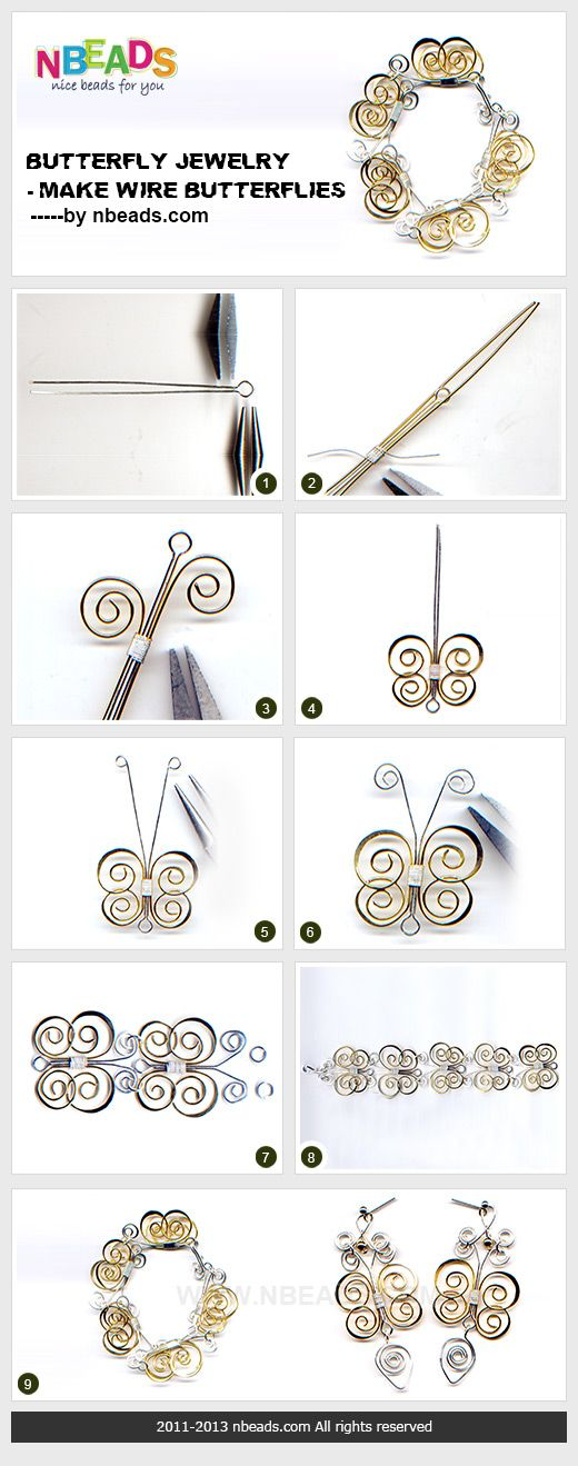 butterfly jewelry - make wire butterflies