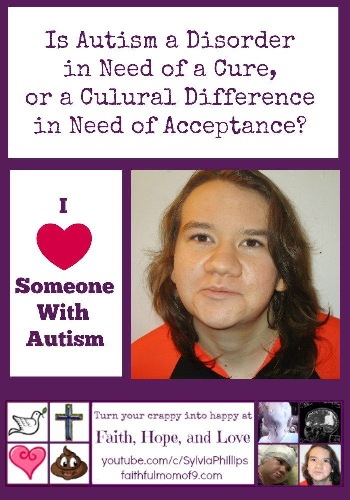 Currently, there is no cure for #autism, but some people are demanding that one be found.  However, the majority of autistics don't want to be cured because they don't see autism as being a disease or a disorder that needs to be cured! #autismacceptance