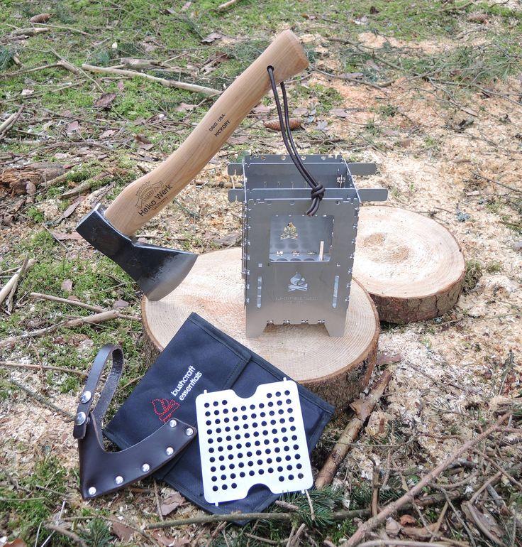 WERBUNG:  Bushcraft Essentials Bushbox XL + Helko Trekking axe 0,6 kg for Outdoor
