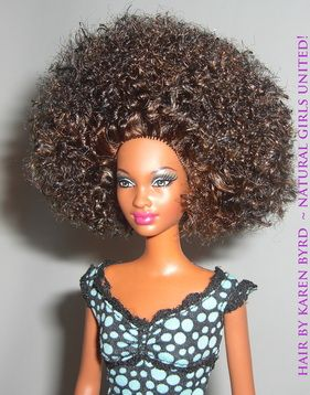 Love these Barbies for sale! Tons of different curly hair styles