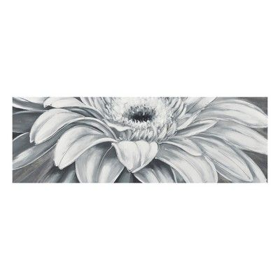 Black and White Gerbera Hand Painted Canvas