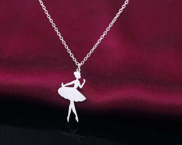 925 sterling sliver ballet dancer necklace,personalized fashion ballet dancer necklace,a perfect gift