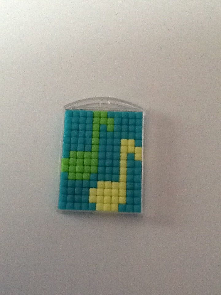 Pixel sleutelhanger muzieknoten