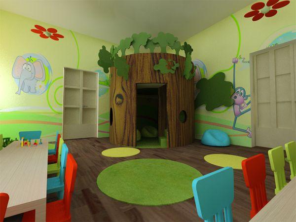 kindergarten by Monika Juhasz at Coroflot.com- Bloemen aan plafond