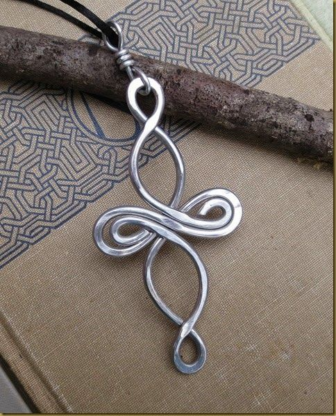 I love reworking successful designs with different metals. Wire Mom