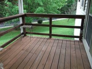 simple railing   deck Ideas   Pinterest
