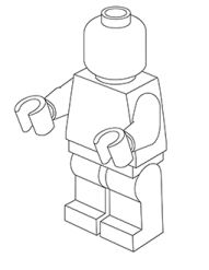 blank lego figure coloring pages - photo#7