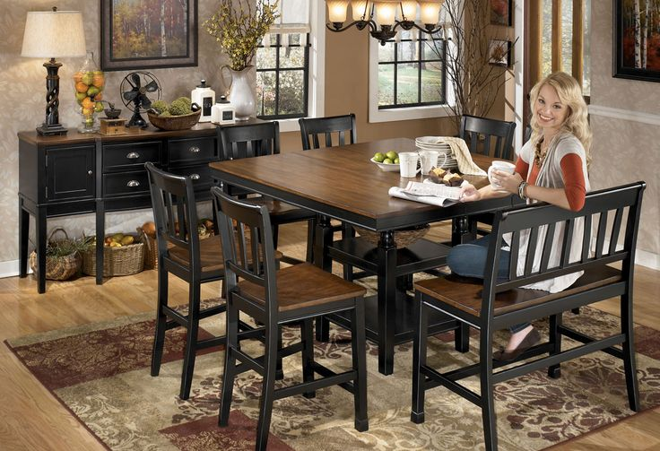 Counter Height Loveseat Bench : tone counter counter height dining sets bench option dining table ...
