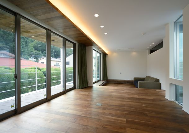 庭に囲まれた和モダンな家・間取り(東京都八王子市) | 注文住宅なら建築設計事務所 フリーダムアーキテクツデザイン