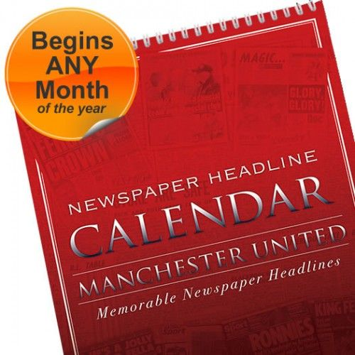 Personalised Football Club Calendar  from Personalised Gifts Shop - ONLY £14.99