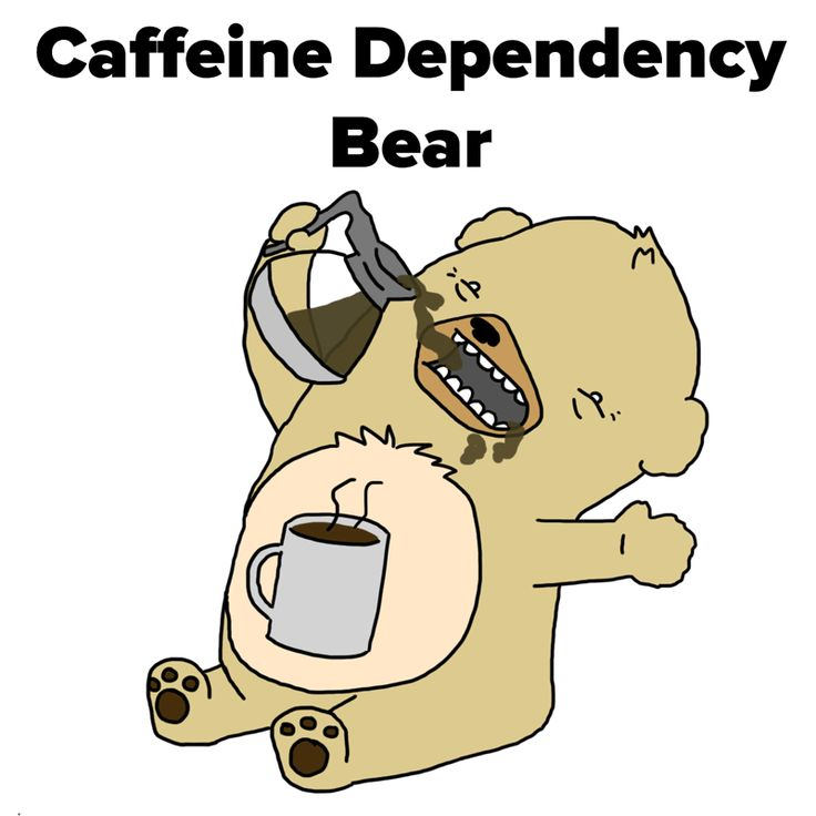 Care Bears Having a Quarter-Life Crisis. Our project manager, Ashley, can definitely relate to Caffeine Dependency Bear! #funny #illustrations #parody