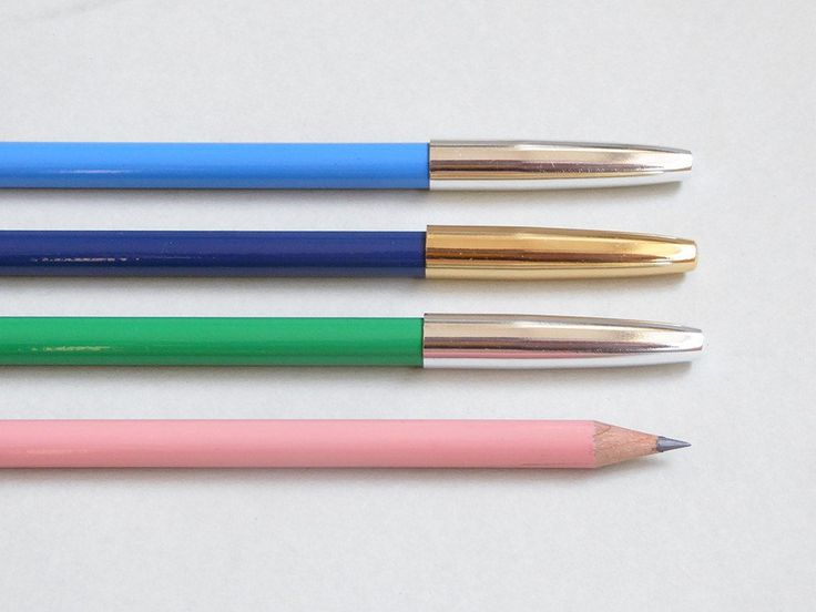 Metal cap pencils by Present and Correct