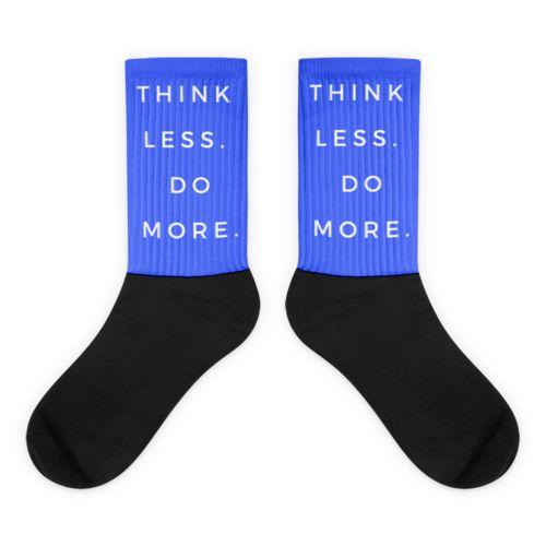 Blue TLDM Black foot socks