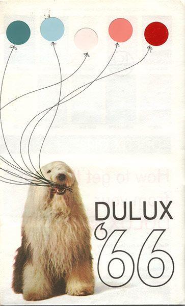Dulux colour card 1966