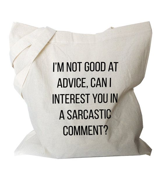 Funny Tote Bag Sarcastic Canvas Tote Bag Quote by BlackTypographic