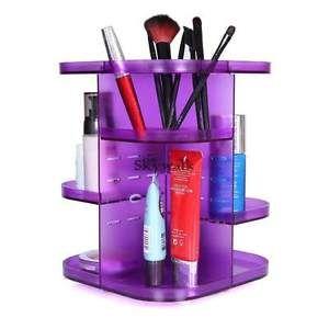 Spinning Cosmetic Organizer Makeup box case Storage rack shelf rotating Stand