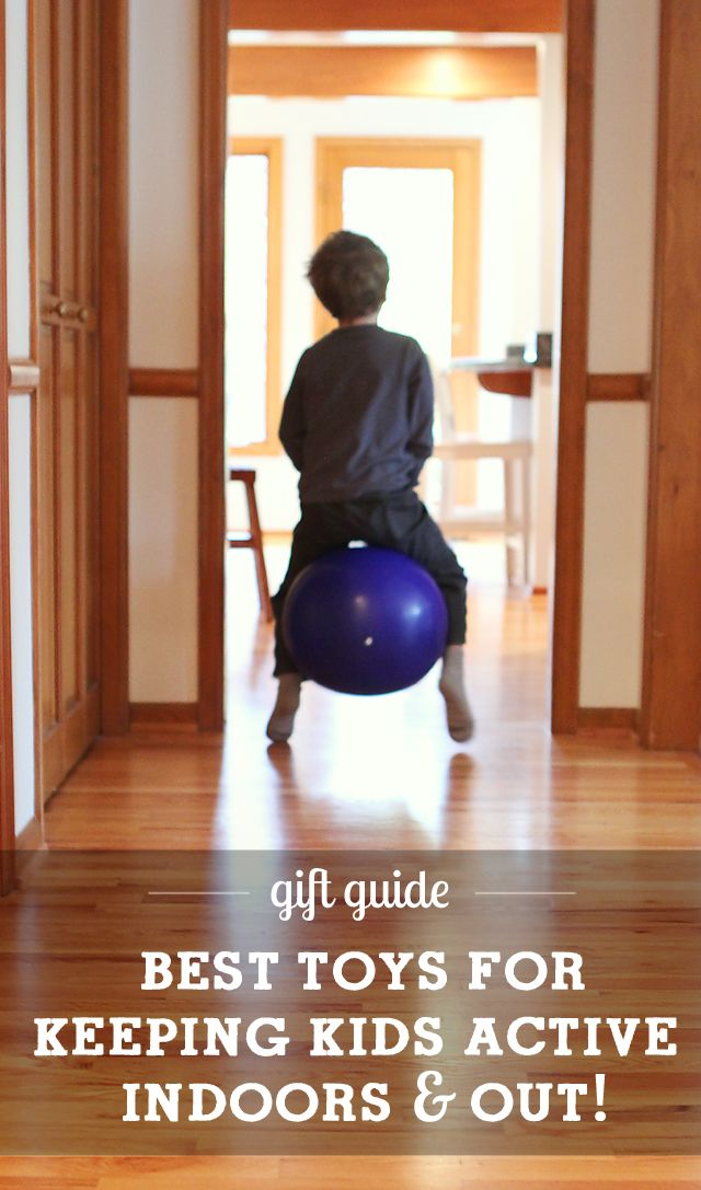 Best toys for keeping kids active - everything from yoga games to best beginner bikes and more. Great detailed descriptions and age recommendations for each pick.