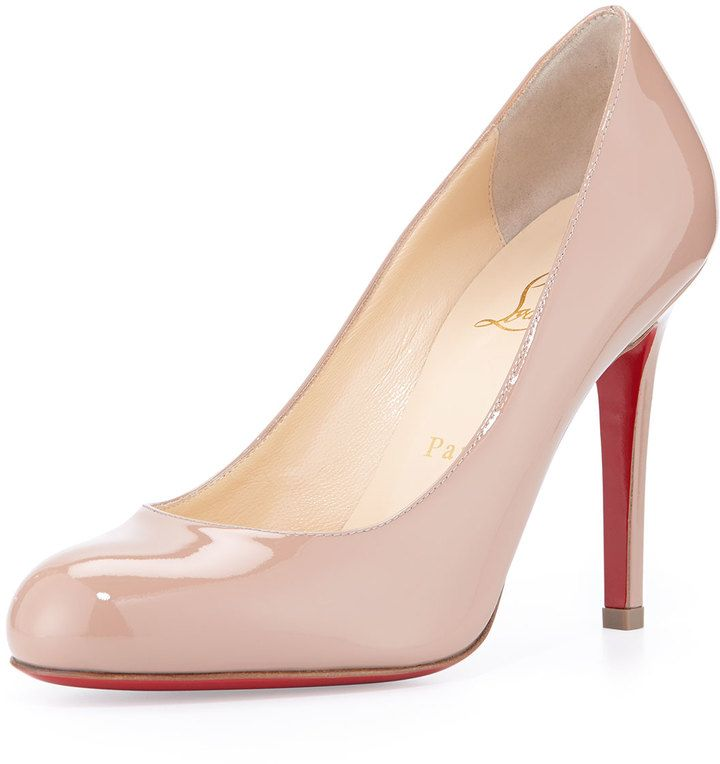 Christian Louboutin Simple Patent Red Sole Pump, Nude. Red SoleShoe ClosetNeiman  MarcusFashion ShoesChristian ...