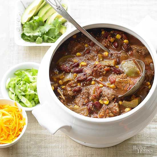 There's nothing better than a hearty soup to warm you up on a chilly day. Here's a Christmas chili recipe with the right amount of kick./