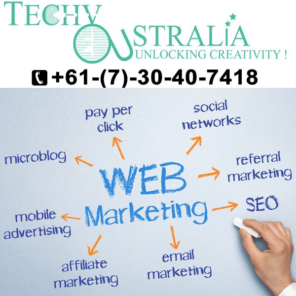 +61-(7)-30-40-7418 Techy Australia  Process to website development company