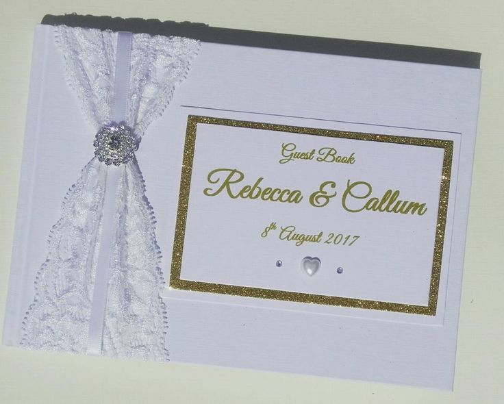 A5 Personalised White luxury Diamante Lace Wedding Guestbook/Planner/Album in Home, Furniture & DIY, Wedding Supplies, Guest Books & Pens | eBay!