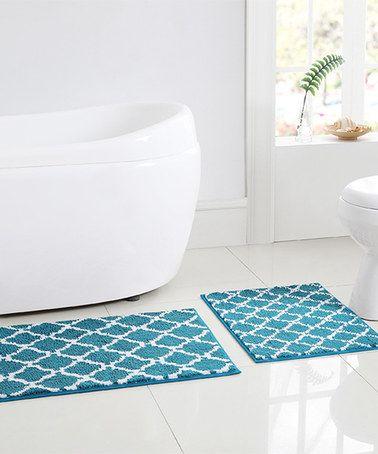 Best Bath Rugs Images On Pinterest Bath Rugs Bath Mat And - Turquoise bath rug set for bathroom decorating ideas