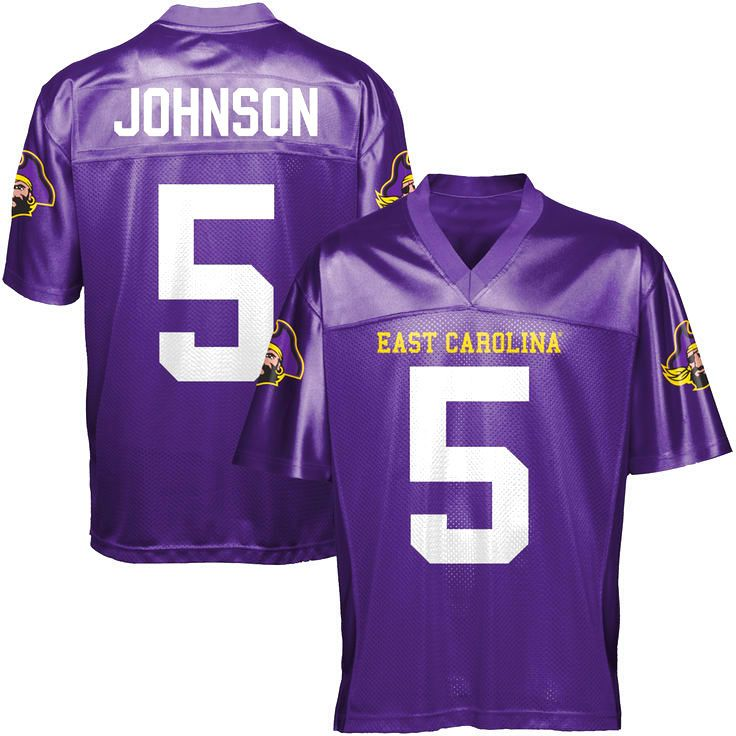 Chris Johnson East Carolina Pirates Football Jersey - Purple - $79.99