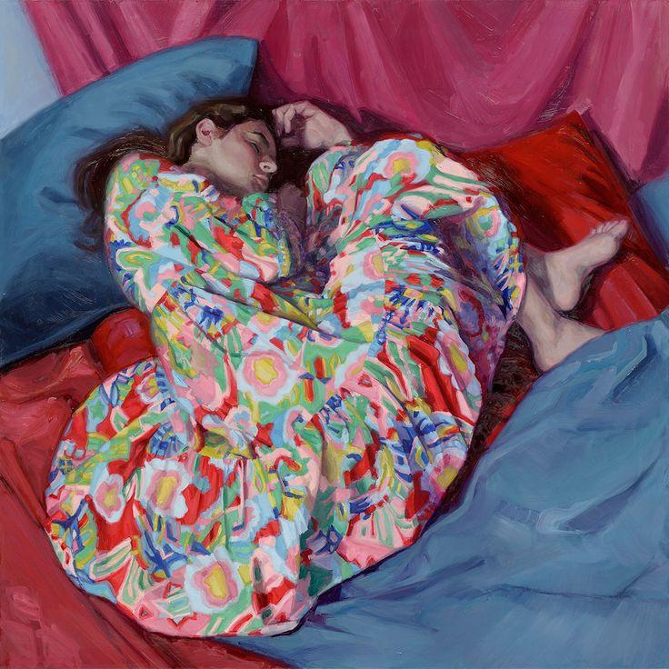 Model painting by Carolien van Olphen. Oil on panel. 120x120 cm