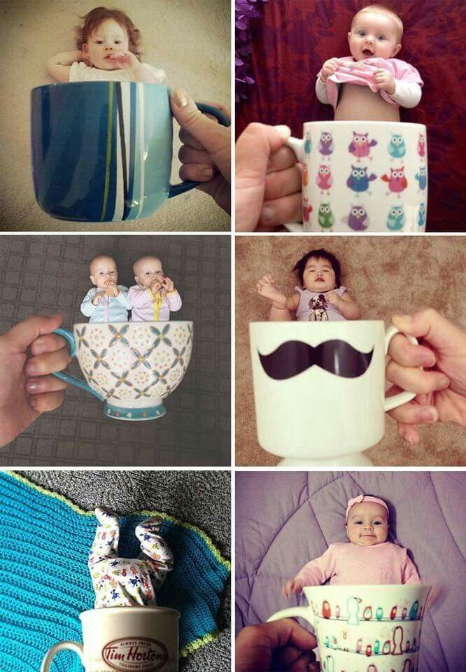 Fotografie. Kinder. Baby. Tassen. Lustige Bilder. – #fotografiekinder