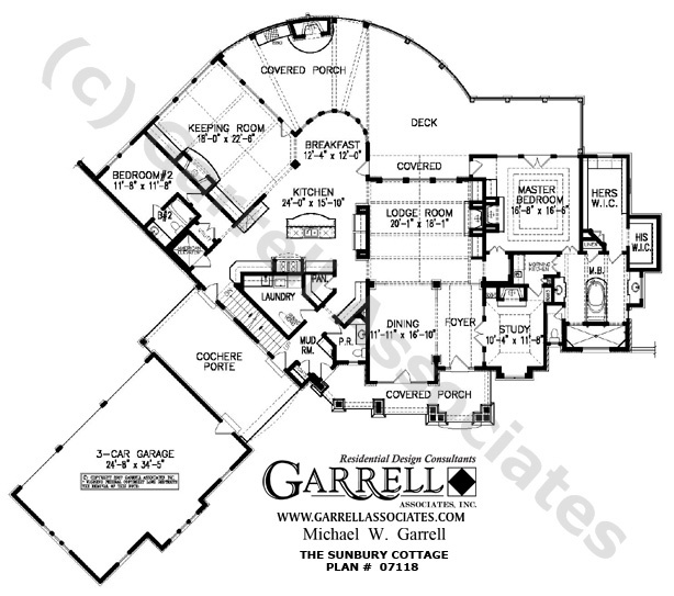 Sunbury Cottage House Plan 07118 1st Floor Plan