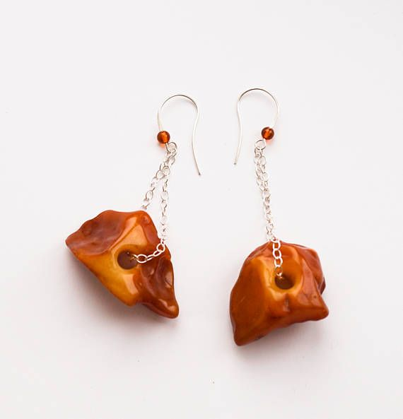 Huge Chick Amber Earrings 11g.
