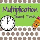 This multiplication timed test is the perfect bell ringer or way to assess that your class knows their multiplication facts. Each page includes two...