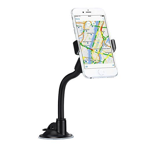 Support téléphone Voiture Universel Mpow Fixation sur Pare-brise avec 360 degrés de rotation pour iPhone 7 Plus 7 6 Plus 6 5 SE Nokia…