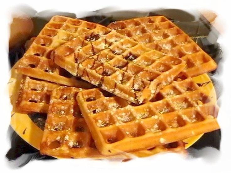 Gaufres à l'ancienne. Lien de la recette: http://cuisine.journaldesfemmes.com/recette/305297-gaufres-a-l-ancienne