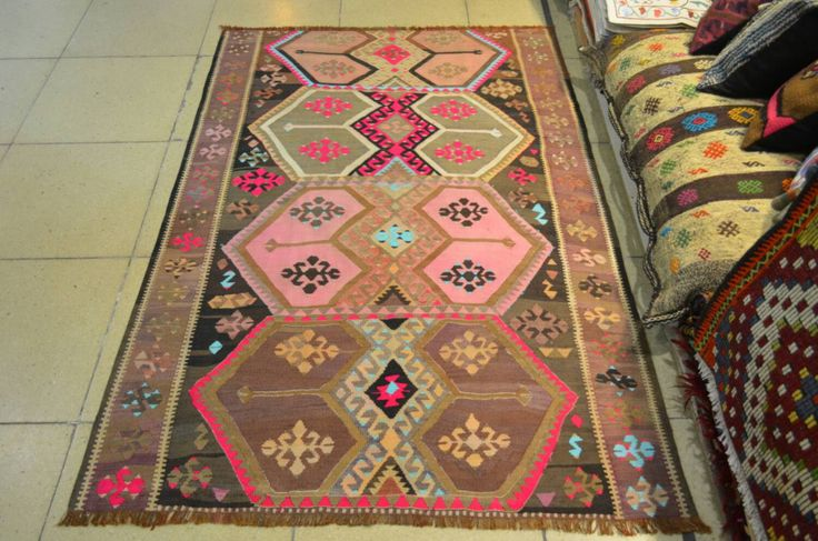 Vintage Turkish kilim. 6.3 by 4.1 feet. Free shipping with FEDEX. Handmade Turkish kilim. Turkish carpet. Vintage kilim. Decorative kilim. by turkishrugman on Etsy