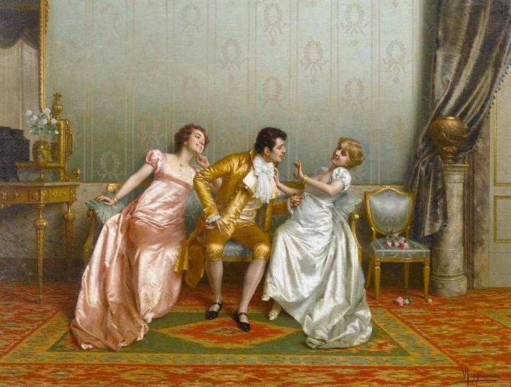 """The Flirt"" by Vittorio Reggianini https://rceliamendonca.wordpress.com/tag/vittorio-reggianini/"
