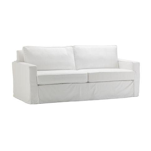 West Elm White Slipcover For Henry Sofa Living Room