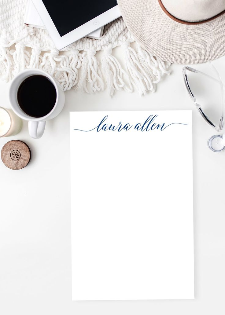 Professional Stationery Personalized Notepad