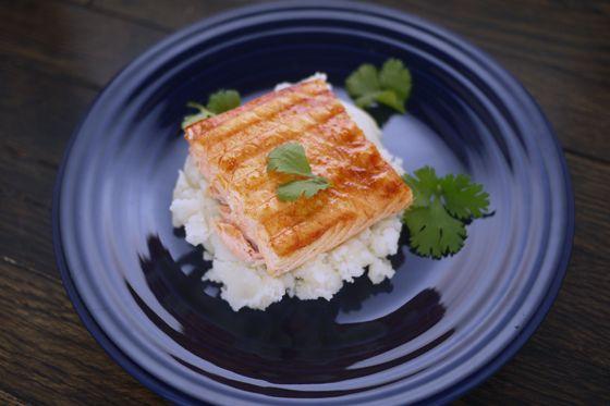 Maple Sriracha Roasted Salmon recipe   One Hungry Mama