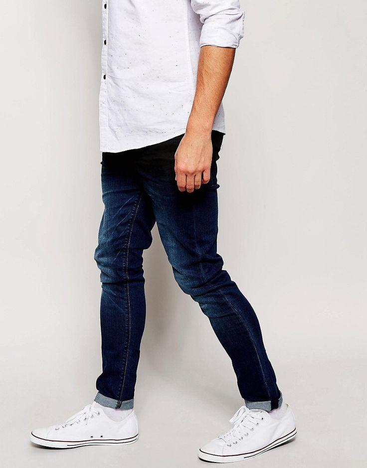 Image 4 ofASOS Super Skinny Jeans With Dip Dye Coating