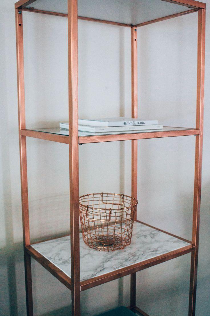 Marble & Copper shelf DIY Ikea Hack