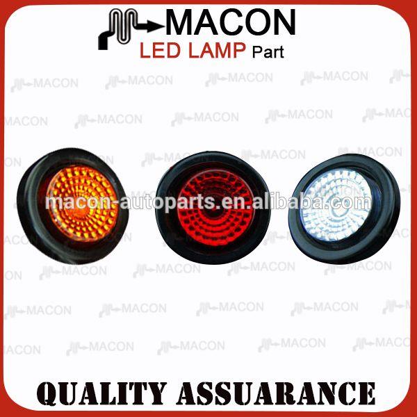 2 inch round LED truck trailer tail Light 12v led tail light for trucks 24v LED Truck Tail Indicator