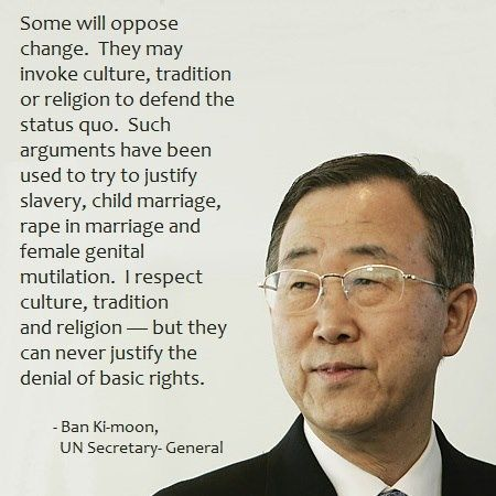 Ban Ki Moon is the eighth and current Secretary-General of the United Nations.