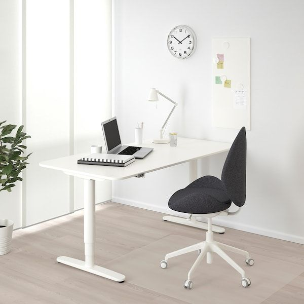 Bekant White Desk Sit Stand 160x80 Cm Ikea In 2020 Ikea Bekant Desk Ikea Bekant Ikea