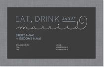 eat drink and be married lettering Invitations & Announcements