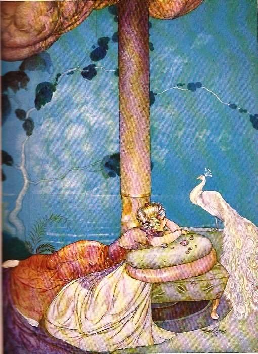 Gustaf Tenggren for Princess Rosette by D'Aulnoy from Red Fairy Book Edited by Andrew Lang, McKay, 1924