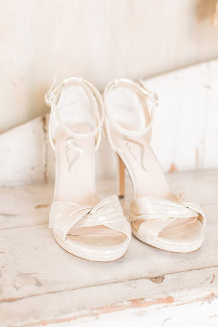 pearlized white wedding shoes