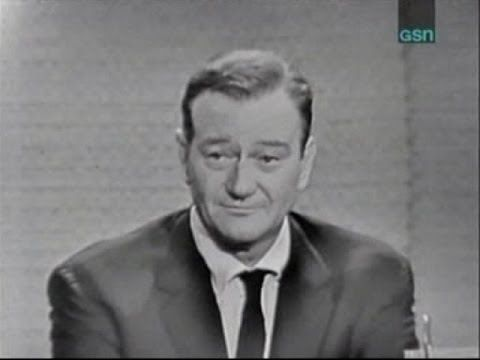 What's My Line? - John Wayne; Joey Bishop [panel] (Nov 13, 1960) What a great, humble man. Love The Duke!!